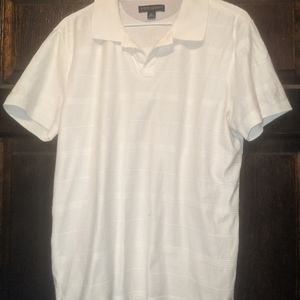 Striped white shirt with collar